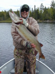 Cold weather didn't stop my brother in law Ron Jurcy from boating this 40 inch northern pike.