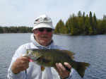 On one Canadian fishing trip I caught more than 200 of these fine smallmouth bass on one single lure.