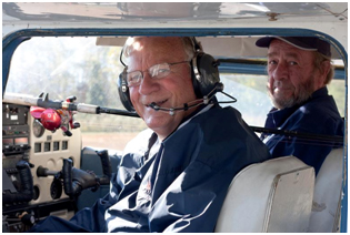 Jake expands his fishing knowledge by flying his own airplane to many outlying fishing spots.